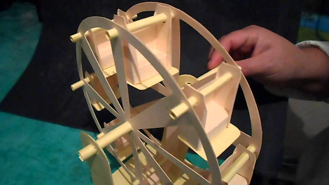 Automata de rueda de la fortuna en papel youtube for Sillas para una maqueta