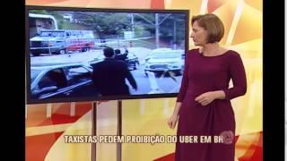 Motorista do Uber � cercado e ofendido por taxistas durante reuni�o no Minist�rio P�blico