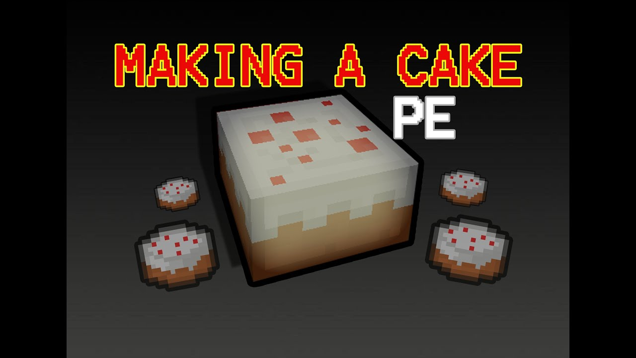 how to make a cake in minecraft pocket edition