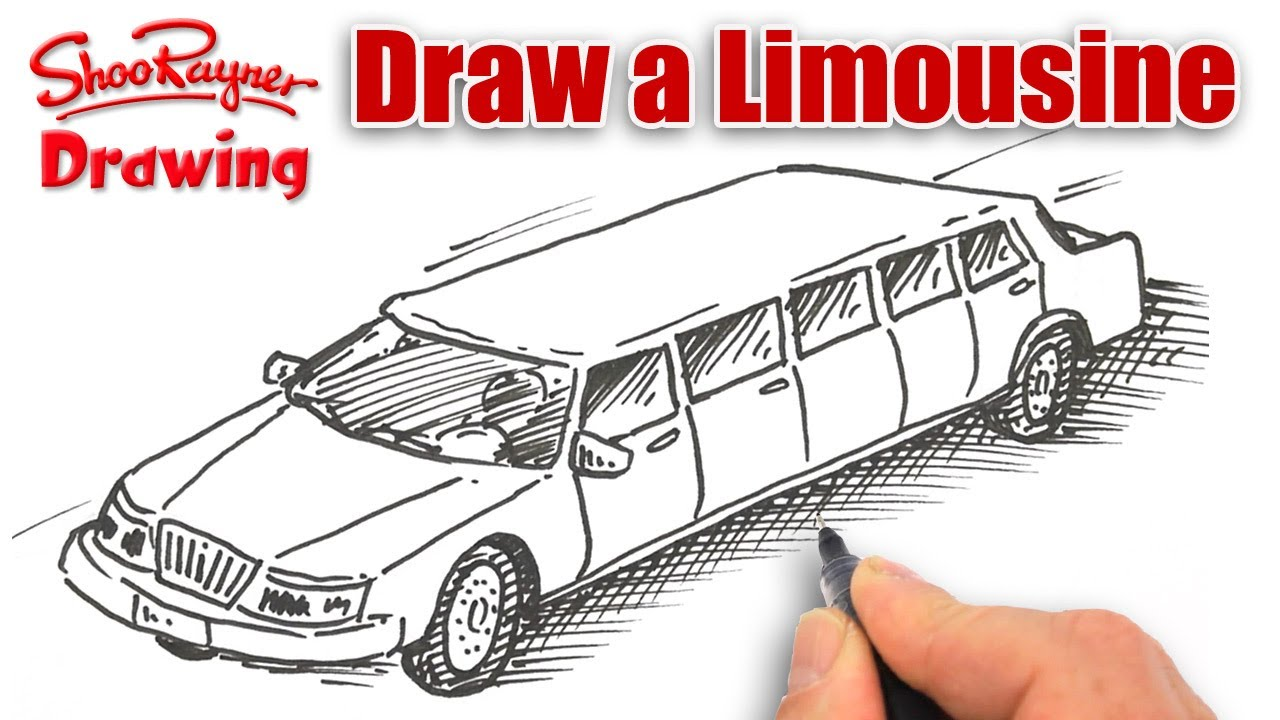 How To Draw A Stretch Limousine Youtube