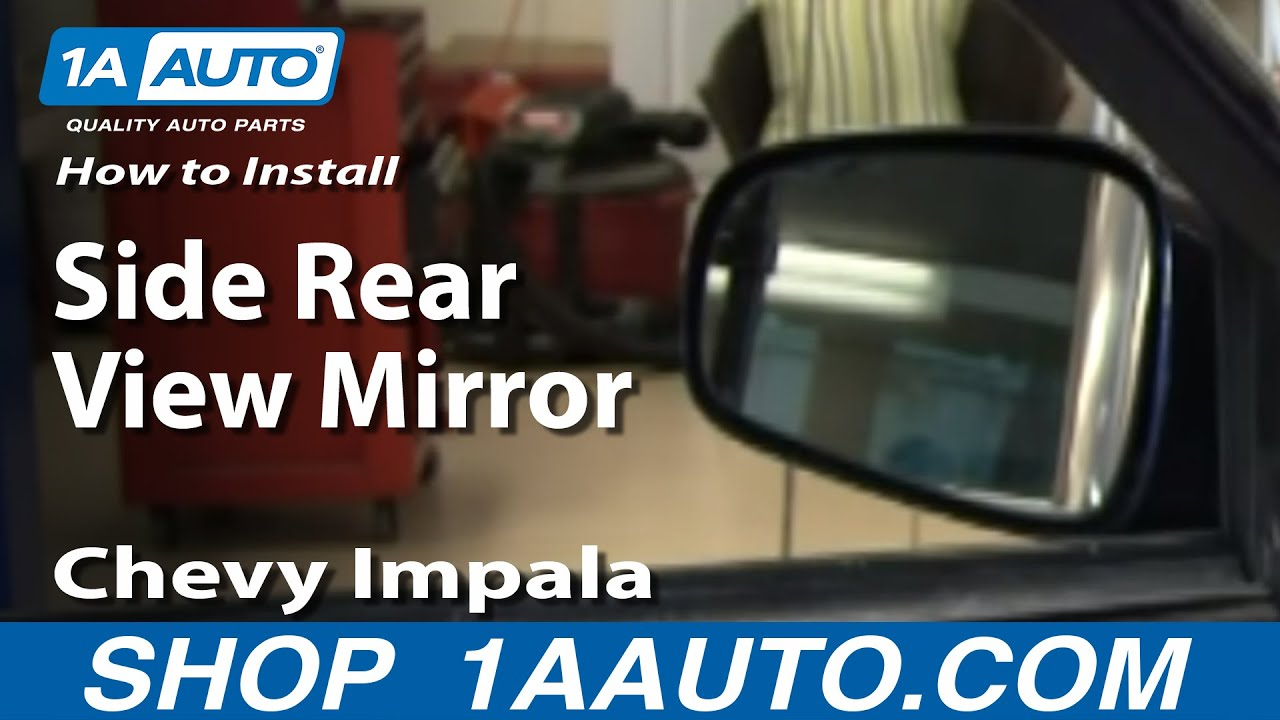 How to install replace manual side rear view mirror chevy apps
