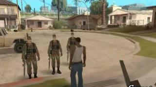 CJ Es Reclutado A Dar El Servicio Militar 1/3 Gta San