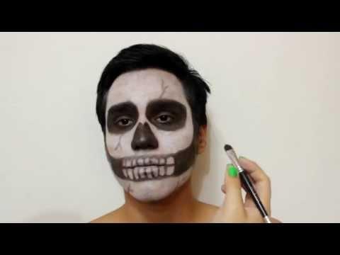 maquillaje de calavera para halloween