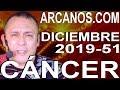Video Horóscopo Semanal CÁNCER  del 15 al 21 Diciembre 2019 (Semana 2019-51) (Lectura del Tarot)