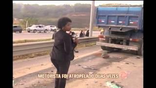 Taxista morre atropelado e nove pessoas ficam feridas em acidente na MG-424