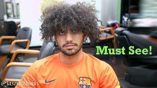 Haircut Transformation - How to style Curly hair - Easy Hairstyle for men 2018 #28
