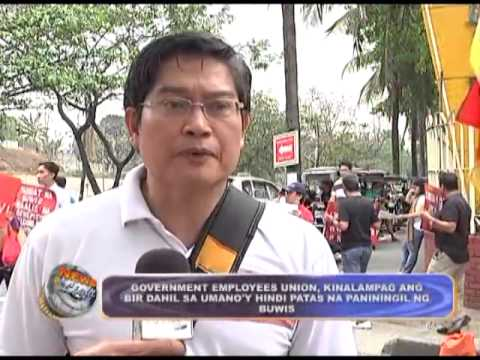 Government Employees Union clanked BIR for unfair taxes