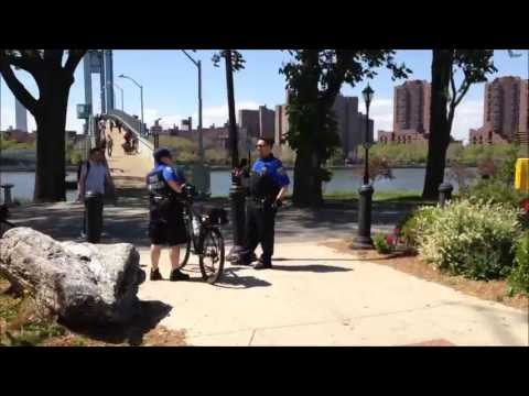 DEPARTMENT OF HOMELESS SERVICES, DHS, OFFICERS RIDING THIER BICYCLES ON WARDS ISLAND IN NEW YORK.