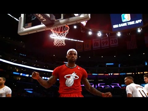LeBron James All Dunks on Christmas Day 2013 HD