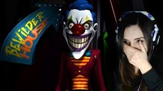 Girl Cries Playing Scary Clown Game - Bewilder House