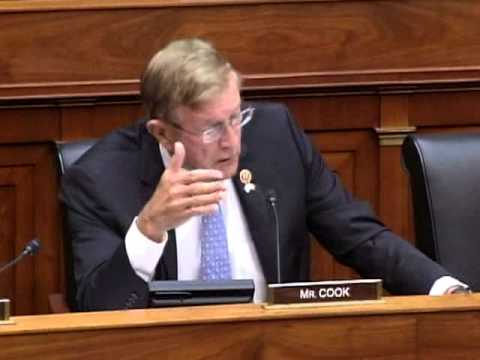 Rep. Paul Cook at House Foreign Affairs Committee Hearing 7-24-2014