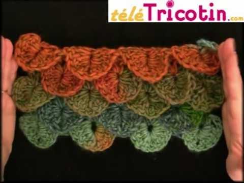 la maille crocodile ou ananas au crochet youtube. Black Bedroom Furniture Sets. Home Design Ideas