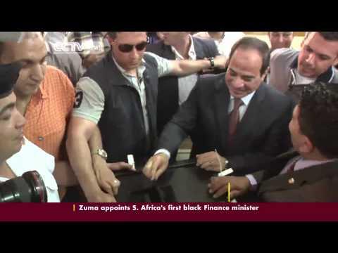 Former Army Chief Abdel Fattah al-Sisi Tipped to Win Casts Vote