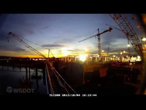 Oct. 5, 2013 - SR 520 Pontoon Float-out Time Lapse