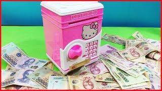 Đồ chơi trẻ em KÉT SẮT MINI RÚT TIỀN THÔNG MINH CHO BÉ | ATM RÚT TIỀN Hello Kitty (chị Chim Xinh)