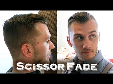 Tapered Scissor Fade Haircut | With Unique Fluttering Shears Technique (ASMR Triggers)