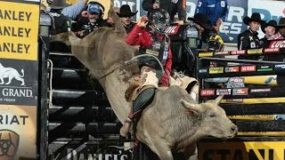 Mike Lee rides Tahonta's Magic Ride for his 500th ride (PBR)