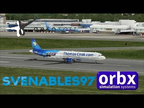 FSX - Sunny day arrival at Orbx Cardiff