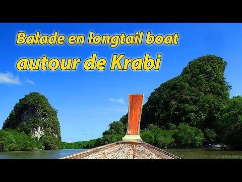 balade en longtail boat autour de krabi