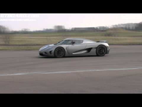 Koenigsegg Agera launching 0-300+ km/h (200+ mph)