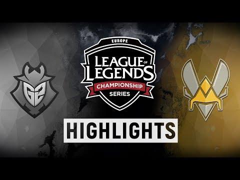 G2 vs. VIT -  EU LCS Playoff Tiebreaker Highlights (Summer 2018)