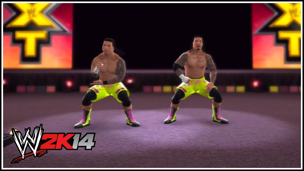 Wwe 2k14 jimmy amp jey the usos make their way to the ring haka war