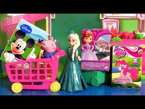 Disney Frozen Elsa Shopping Surprise Eggs & Toy Surprise Boxes from Sofia, My Little Pony