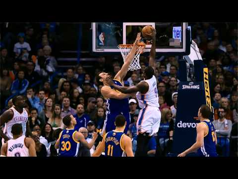 Serge Ibaka Throws Down the Nasty Dunk on Andrew Bogut