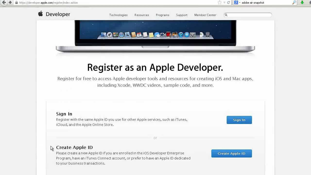 Apple iOS Developer Account Signup