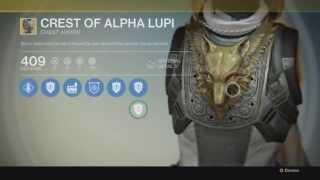 Destiny EXOTIC: Armor Crest Of Alpha Lupi Chest