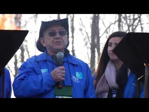 Holocaust Survivors Chant Mourner's Kaddish for the Six Million - 2013 March of the Living Ceremony