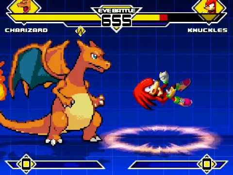 Charizard (Vore) vs Knuckles MUGEN Battle!!! (Download Link)