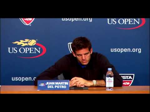 Interview Del Potro vs Lleyton Hewitt Press Conference Round 2 US OPEN 2013