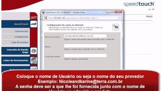 Configurando Modem SpeedTouch 510 Através Do Browser