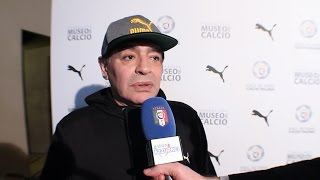 """Maradona: """"Avrei voluto giocare con Totti, Baggio, Del Piero e Antognoni""""'"""