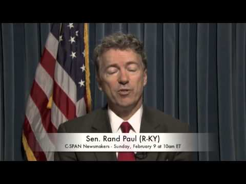 Sen. Rand Paul (R-KY) on Bill Clinton (C-SPAN)