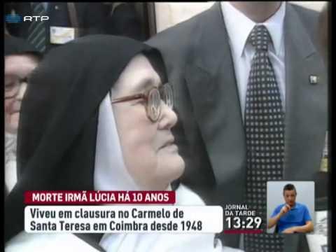 Irmã Lúcia morreu há dez anos