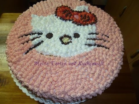 Hello Kitty Torte-Hello Kitty yas pastasi