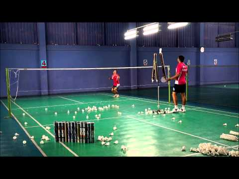 Cross smash practice HD การฝึกตบทแยง - Badminton training