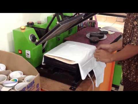 Cara Sablon Digital Menggunakan Transfer Paper Untuk Kaos Warna Terang