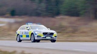 2017 Volvo V90 POLICE CAR Test Drive. YouCar Car Reviews.