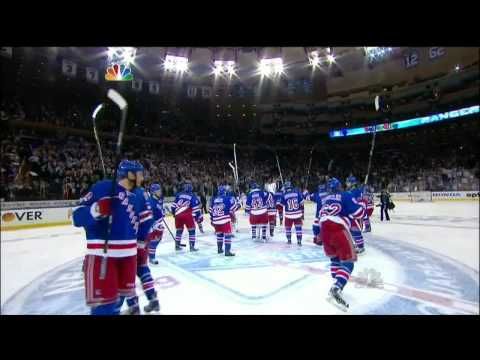 Chris Kreider tip in OT goal 4-3 May 23 2013 Boston Bruins vs NY Rangers NHL Hockey.