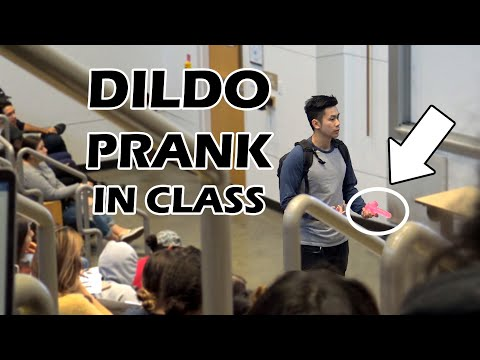 THROWING DILDOS IN LECTURE PRANK!