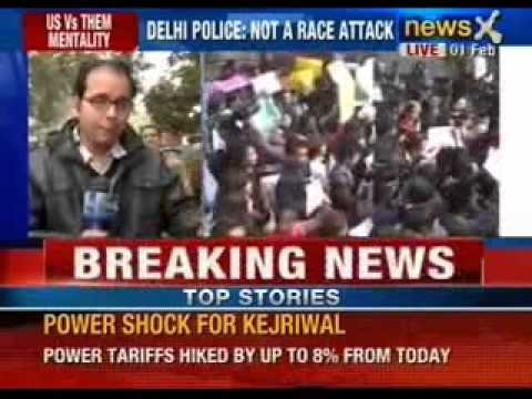 Breaking News: Delhi police shows video recording of Nido Taniam to students - NewsX