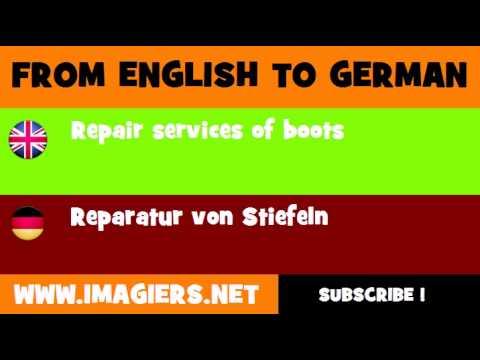 DEUTSCH   ENGLISCH  = Reparatur von Stiefeln