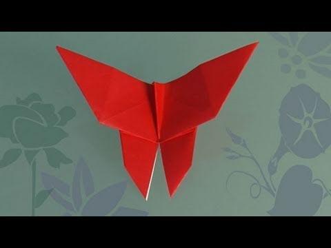 Como fazer uma Borboleta de papel, origami