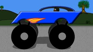 Monster Truck Word Crusher Part 4 - Race Car Truck