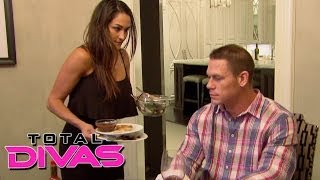 Nikki Bella prepares dinner for John Cena: Total Divas, December 1, 2013