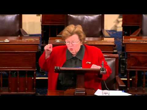 Barbara Mikulski Loses It After Failure To Pass Paycheck Fairness Act,