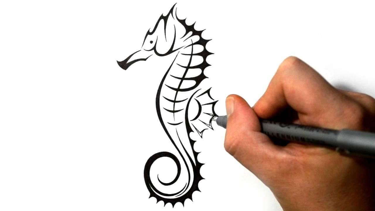 Tribal Seahorse Tattoo...